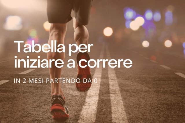 Tabella per iniziare a correre