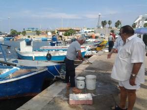 Il pesce lo pulisce direttamente il pescatore
