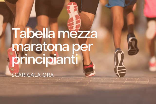 Tabella mezza maratona per principianti