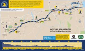 Il percorso della Maratona di Boston