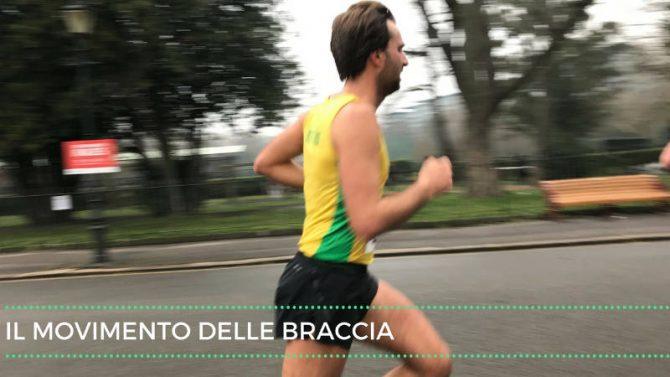 Il movimento delle braccia nella corsa