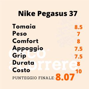 Punteggio Nike Pegasus 37