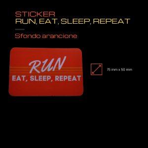 Sticker Run Eat Sleep Repeat